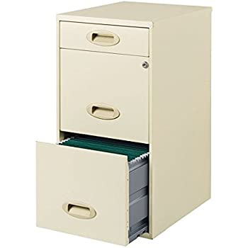 Amazon Com Poppin White Stow 3 Drawer File Cabinet