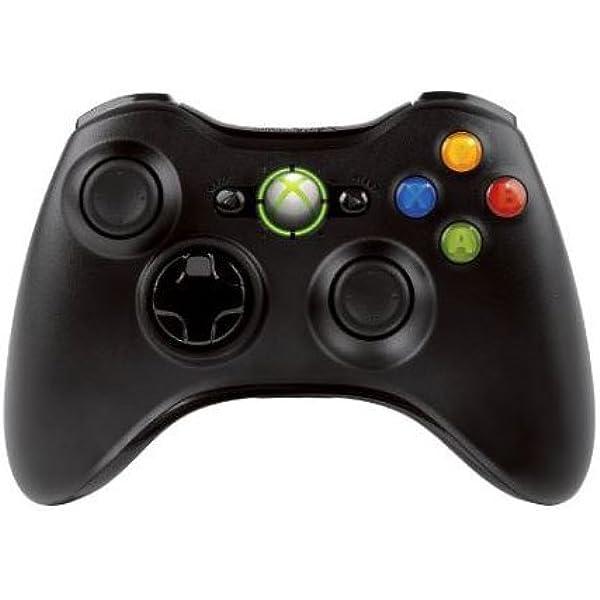 Microsoft - Mando Inalámbrico, Color Negro (PC, Xbox 360): Microsoft: Amazon.es: Videojuegos