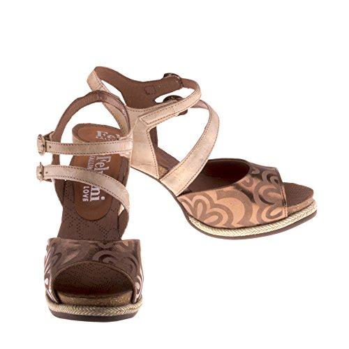 Scarpe Genuina Donna Multicolore Pelle Felmini Innamorarsi Sandali In B061 Com Erena zqx4w