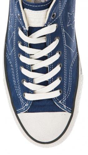 Converse Unisex John Varvatos Star Player Ox Zapatos De Cuero Azul Marino 142970c