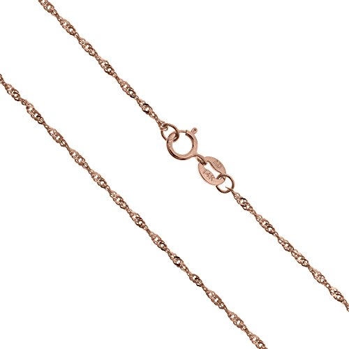 Solid Singapore Twisted Chain Necklace