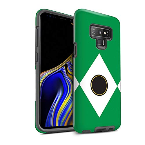 Power Case Rangers - eSwish Gloss Tough Shock Proof Phone Case for Samsung Galaxy Note 9/N960 / Green Design/TV Comic Rangers Collection