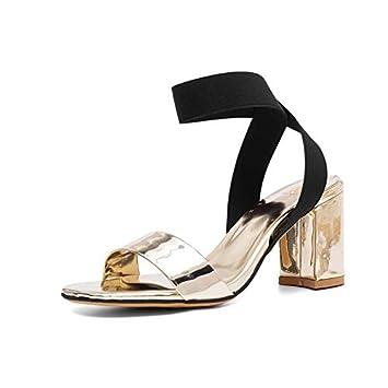 MENGLTX Talon Aiguille Talons Hauts Sandales 2019 Femmes Gladiateur Sandales Couleur Mixte Talons Hauts Chaussures Rome Unique D'Été Sandales De Mariage De Bal Chaussures Femme