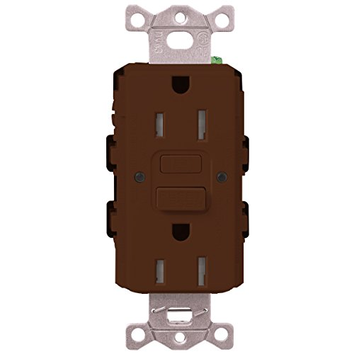 Lutron  SCR-20-GFST-SI  20-Amp  Tamper Resistant Self-Testing Receptacle, Sienna -  Lutron Electronics Company, Inc.