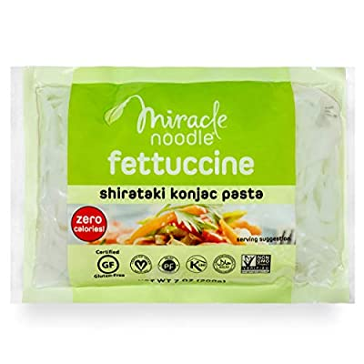 Miracle Noodle Shirataki Zero Carb, Gluten Free Pasta, Fettuccini (Packaging May Vary), 7-Ounce (Pack of 6)