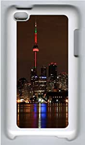 iPod 4 Case Cover,The Brightly-lit City Night Hard Case Cover for Apple iPod 4/ ipod 4th Generation PC Plastic White