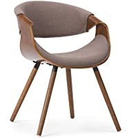 Simpli Home Wayland Bentwood Dining Chair, Mocha Brown