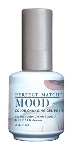 LECHAT Perfect Match Mood Gel Polish, Deep Sea, 0.500 Ounce