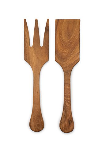 Ironwood Gourmet 28137 Extra Large Salad Utensil Set, Acacia Wood