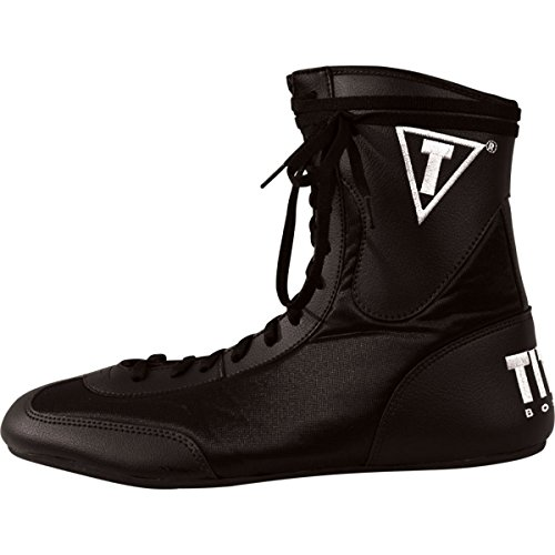 TITLE Speed-Flex Encore Mid Boxing Shoes, Black, 11