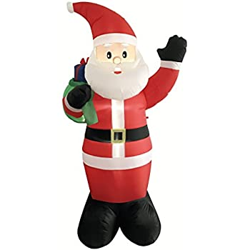 DreamOne 8.5 ft Christmas Inflatable Santa Claus with Gift Bag for Christmas Decoration