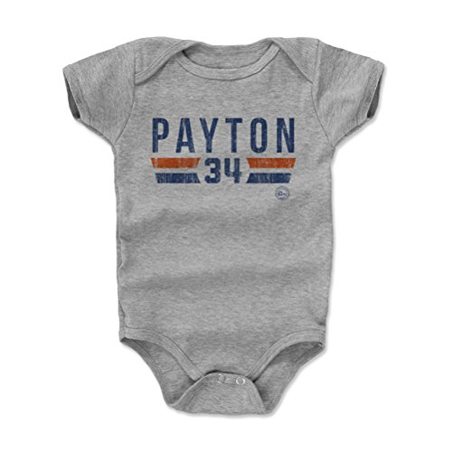 - 500 LEVEL Walter Payton Chicago Bears Baby Clothes, Onesie, Creeper, Bodysuit (6-12 Months, Heather Gray) - Walter Payton Font B