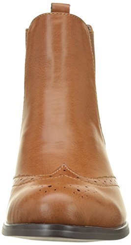 Buffalo Women's B195a-61 P2173h Leather Pu Chelsea Boots Brown CaGFqGb