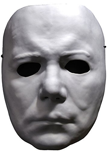 White Ranger Vacuform Mask - Adult Halloween Michael Myers Vacuform Mask