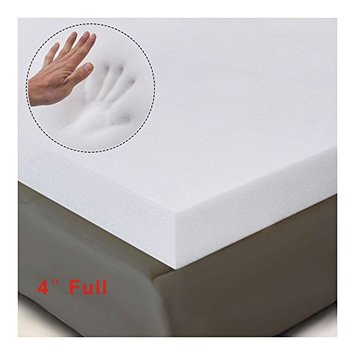 "4"" Full Size Memory Foam Mattress Pad, Bed Topper 54""x75""x4"" New from Unknown"
