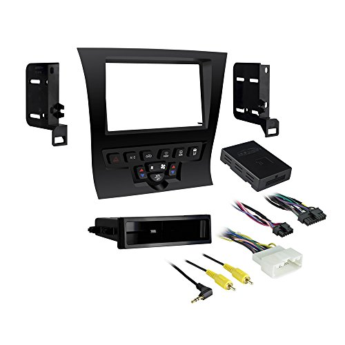 Metra 99-6525HG Single/Double DIN Dash Kit for 2011 - Chrysler 300 Vehicles (High Gloss Black) by Metra (Image #1)