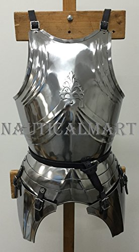 (NAUTICALMART Medieval Renaissance Armor Steel Breastplate - Halloween Wearable Costume LARP)