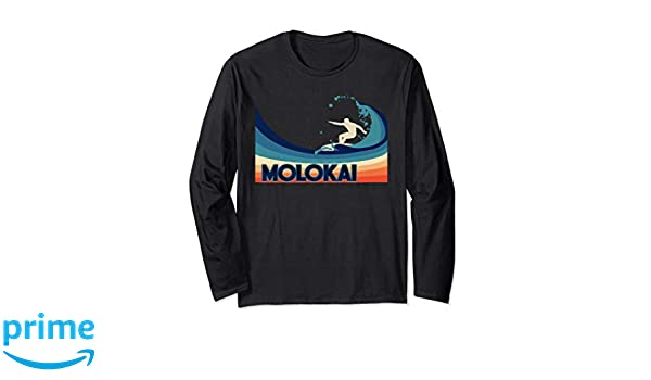 eb66a08e132d8 Amazon.com  Long Sleeve Molokai Retro Surf Shirt Souvenir Gift  Clothing