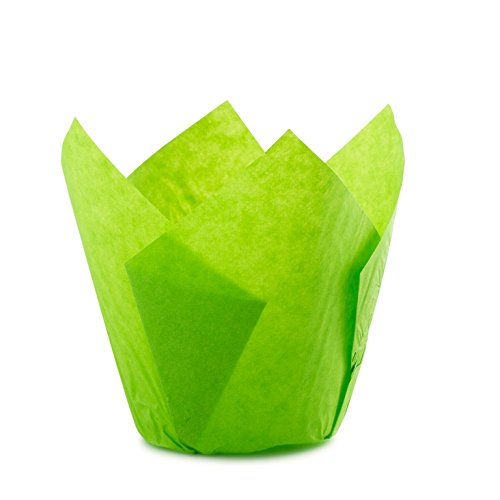 Tulip Standard Cupcake Liners Wrappers Colors (Green, 100)
