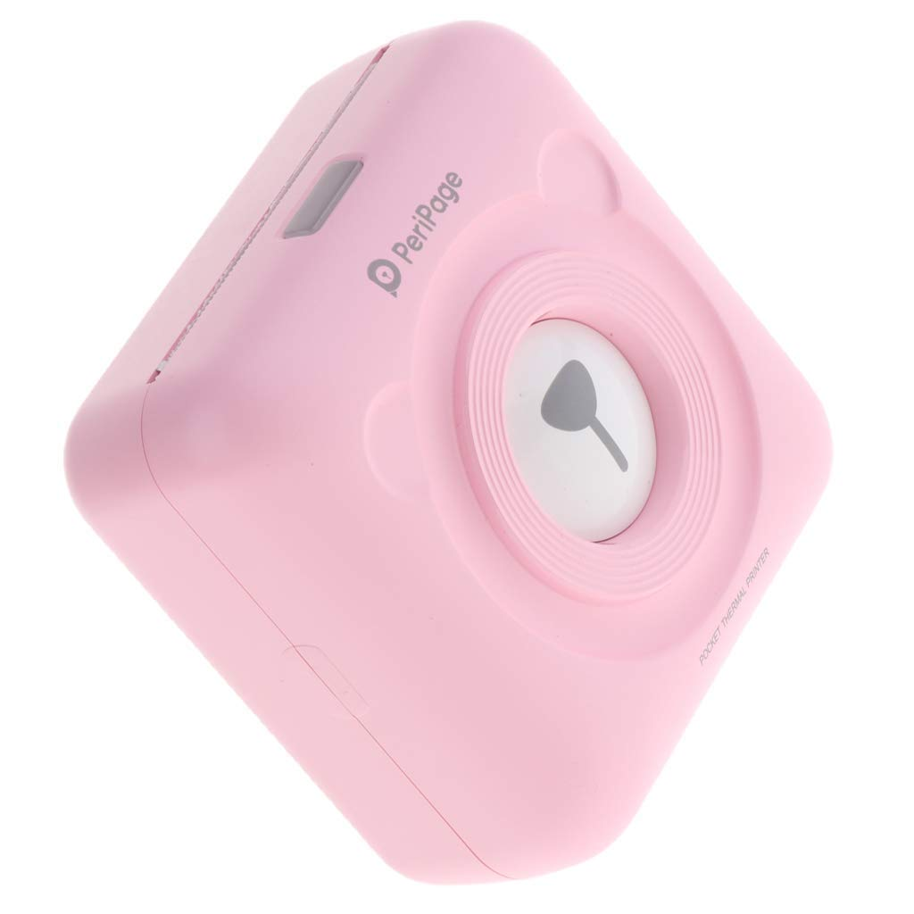 Qkefegfkgr Mini HD Wireless Mobile Instant Photo Paper Thermal Printer Bluetooth Compatible with iOS Android Gera (Pink) (Color : -, Size : -)