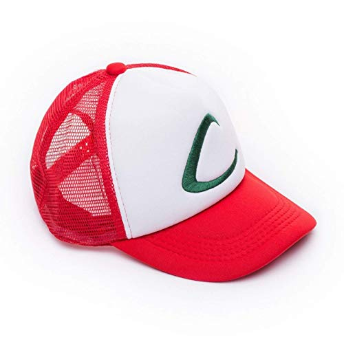 Pokemon Ash Ketchum Baseball Cap - Cool Pokemon Cosplay Accessory - Unisex One Size Fits Most Adjustable Snapback Cap With Embroidered Logo - High-Quality Stitching - Awesome Present for Pokemon Fans]()