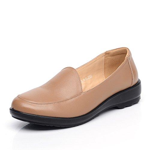 zapatos de gran tamaño asakuchi madre/Zapatos zapatos planos de las mujeres de la tercera edad/Zapatos de mujeres/Zapatos de fondo suave A
