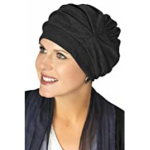 100% Cotton Trinity Turban - 3 Looks in One! Slouchy Chemo Hats for Cancer Patients