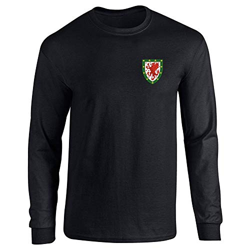Pop Threads Wales Soccer Retro National Team Black for sale  Delivered anywhere in Canada