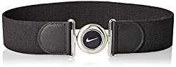 Nike Women's Stretch Leather Belt, White, Large/X-Large