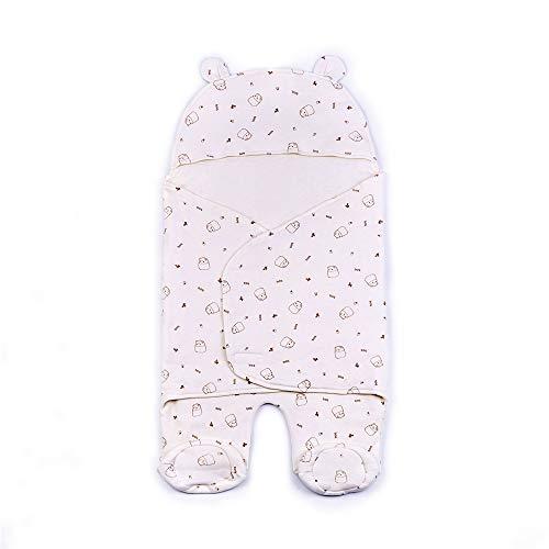 Universal Co Sleeper (Newborn Baby Wrap Swaddle Blanket with Bear Ear Hooded Baby Sleeping Bag Velcro Sleep Sack)
