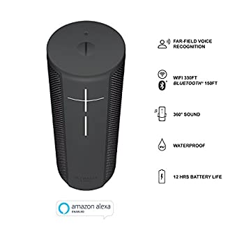 Ultimate Ears Blast Portable Wi-fibluetooth Speaker With Hands-free Amazon Alexa Voice Control (Waterproof) - Graphite Black 2