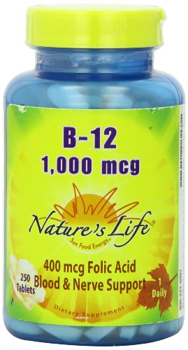 Nature's Life B-12 Tablets, 1000 Mcg, 250 Count