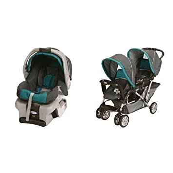 Graco SnugRide 30 Classic Connect Car Seat Dragonfly And DuoGlider Stroller