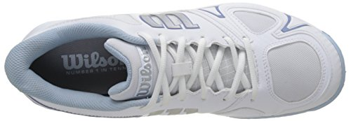 Wilson Wrs322250e055, Scarpe da Tennis Donna, Bianco (White / White / Stonewash), 39 EU