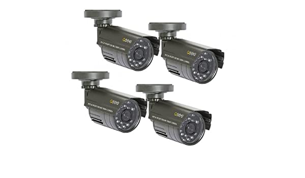 Q-See QM4803B 4-pack CCTV security camera Interior y exterior Bala Negro: Amazon.es: Electrónica