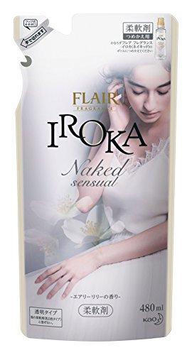 플레어 향수 섬유유연제 IROKA(이로카) NakedSensual(네이키드센슈얼) 리필용 480ml /  480ml × 2 개