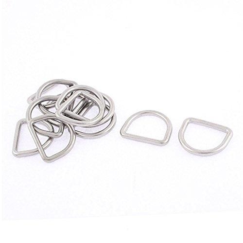 Borsa Cinturino eDealMax Acciaio inossidabile Cintura D a Forma di anello Fibbie Ganci 12 Pz