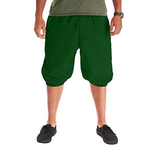 Men's Knickers Pants (Large/X-Large, Green)