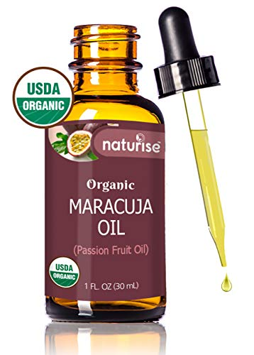 La Natura Juicy Shea Butter - Naturise Maracuja Oil Organic, Passion Fruit Oil 100% Pure Unrefined, 1 Fl Oz, Natural Face Oil, Moisturizer For Hair, Skin, And Nails