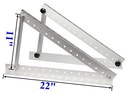 AMSU-Adjustable-Solar-Panel-Mounting-Brackets-For-20W-100W-Panel-Boat-RV-Roof-Wall-Ground-Mounting-4-Sets-Extra-Metal-Expansion-bolts-and-nuts-Wrench-for-Helping-Fix-the-Screws-22-inch