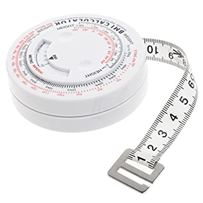YDZN BMI Wheel Calculator,Body Mass Index Retractable Tape,150cm Measure Tool for Diet Weight Loss