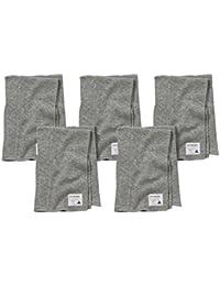 Burp Cloths, 5-Pack Extra Absorbent 100% Organic Cotton Burp Cloths, Heather Grey