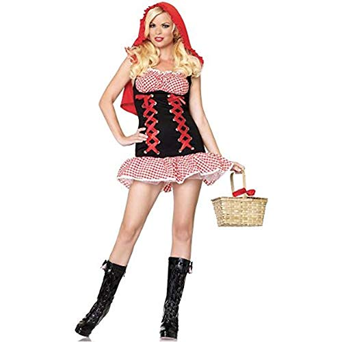 Leg Avenue Women's Red Hot Riding Hood Costume, Red/Black, -