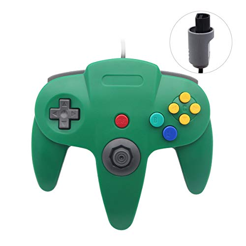 Sp full 2 Pack Upgraded Joystick Classic Wired Controller Compatible with N64 (Green1)