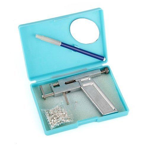 URgreat Professional Steel Ear Nose Navel Body Piercing Gun 98pcs Studs Tool Kit Set Enjoy the Fun Of Earrings