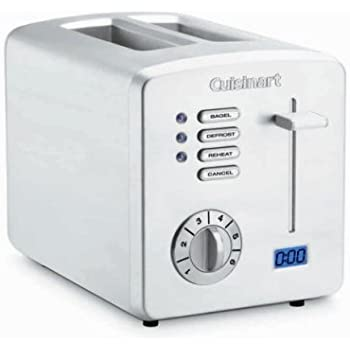 Cuisinart CPT-170 Brushed Stainless Steel 2-Slice Toaster with Countdown Timer