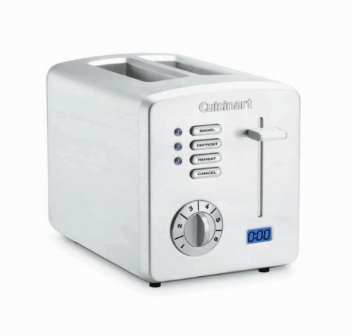 Cuisinart CPT-170 Brushed Stainless Steel 2-Slice Toaster with Countdown Timer - Cuisinart 2 Slice Classic Toaster