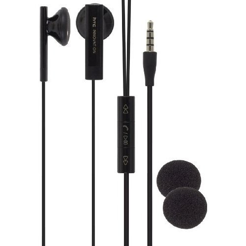 Black Wired Stereo Headset Headphone Earphone Earbud with Remote Controller,Mic, 36H00880-04M ()