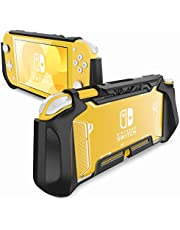 Mumba Grip Case for Nintendo Switch Lite, [Blade Series] TPU Protective Portable Cover Accessories Compatible with Switch Lite Console 2019 Release (Black)