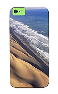 Case Cover Water Landscapes Waves Sand Dunes Africa Namib Desert / Fashionable Case For Iphone 5c